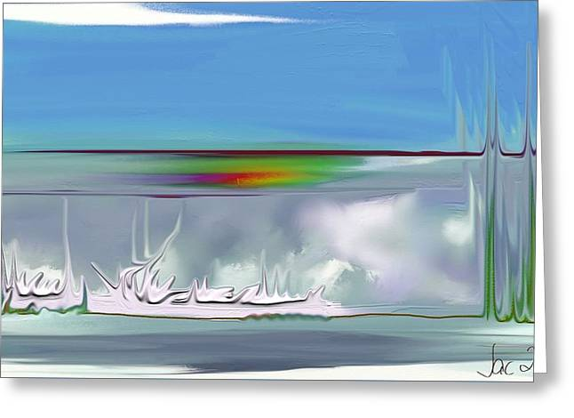Clouds - Fantasy Greeting Card by Jacqueline Schreiber