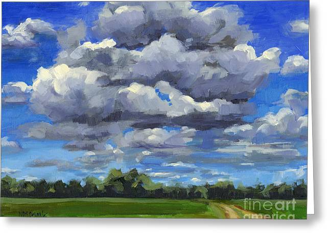 Clouds Got In My Way Sold Greeting Card