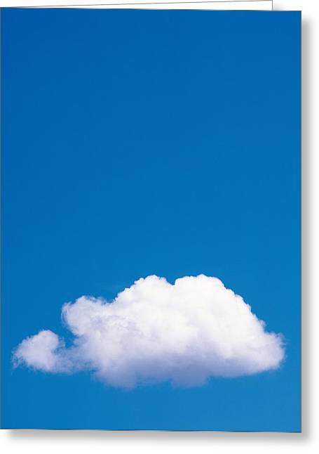 Clouds In Blue Sky Greeting Card by Panoramic Images