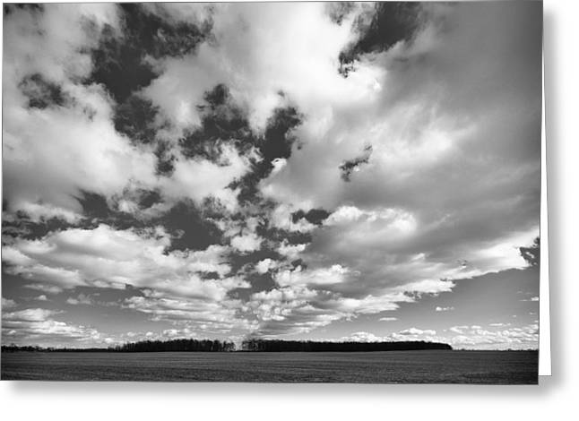 Clouds In The Heartland Greeting Card by Dick Wood