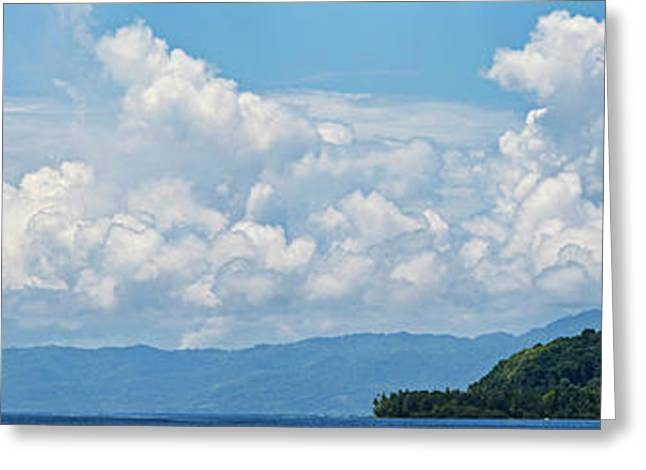Clouds In The Sky, Papua New Guinea Greeting Card by Panoramic Images