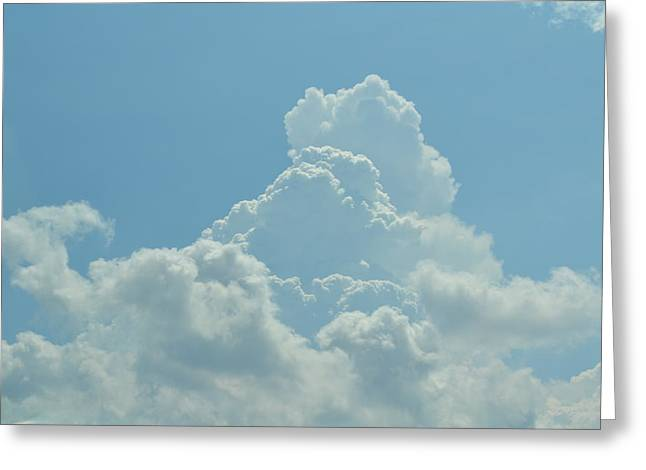 Clouds Greeting Card by Kiros Berhane