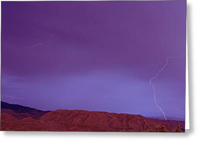 Clouds Lightning Over The Mountains, Mt Greeting Card