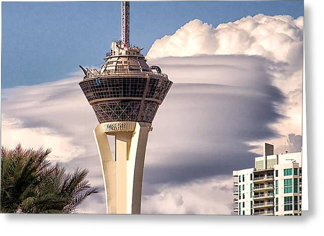 Clouds Make Vegas Greeting Card