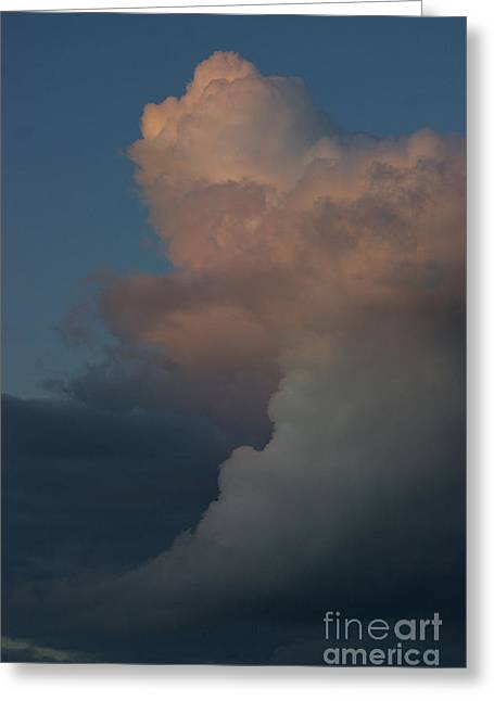Greeting Card featuring the photograph Clouds Meeting by Tannis  Baldwin