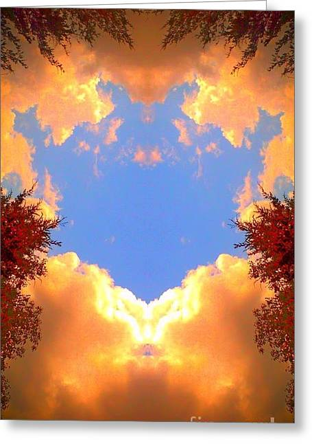 Greeting Card featuring the photograph Clouds Of Gold by Karen Newell