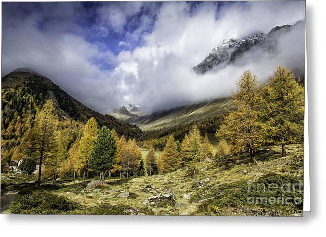 Clouds Of Pontresina Switzerland Greeting Card by Timothy Hacker