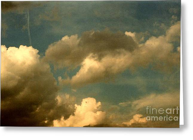 Clouds Of Yesterday Greeting Card by Anita Lewis