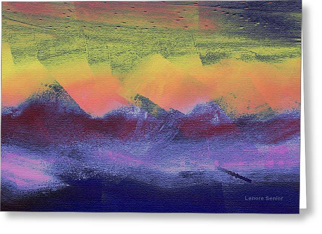 Clouds On The Mountains Greeting Card