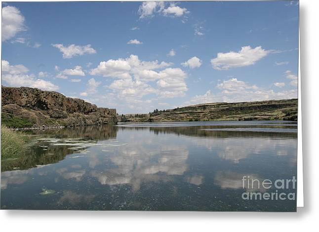 Clouds On Water Greeting Card by Rich Collins