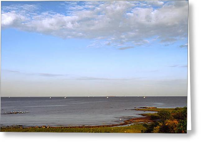 Clouds Over A Lake, Lake Victoria, Kenya Greeting Card by Panoramic Images