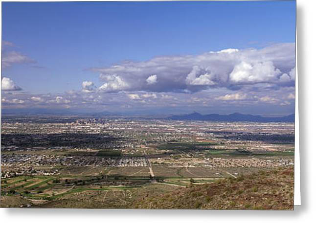 Clouds Over A Landscape, South Mountain Greeting Card