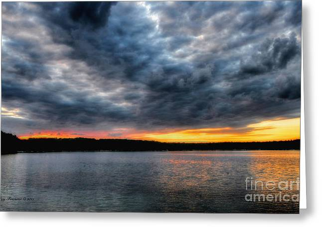 Greeting Card featuring the photograph Clouds Over Big Twin Lake by Trey Foerster