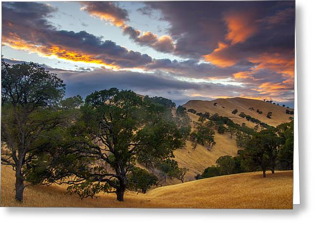Clouds Over Black Diamond At Sunset Greeting Card