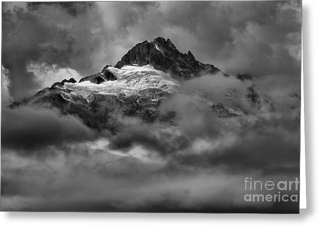 Clouds Over Canadian Glaciers Greeting Card by Adam Jewell