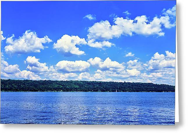 Clouds Over Cayuga Lake, Finger Lakes Greeting Card
