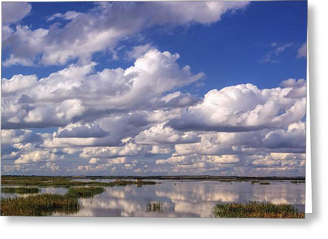Clouds Over Cheyenne Bottoms Greeting Card by Rob Graham
