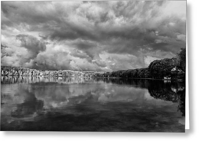Clouds Over Crystal Lake Greeting Card by Kevin Kludy