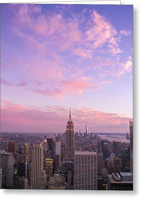 clouds over Empire State Greeting Card