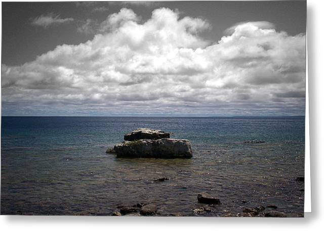 Clouds Over Georgian Bay - F2g Greeting Card