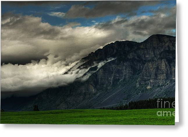 Clouds Over Goat Mountain Greeting Card