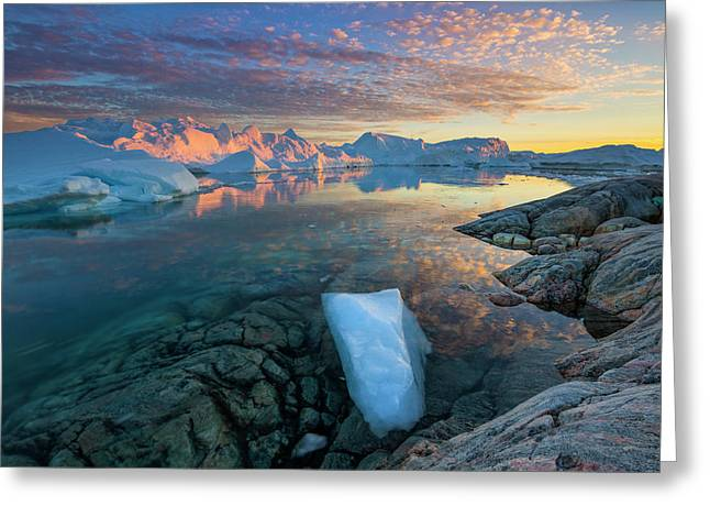 Clouds Over Ilulissat Icefjord Greeting Card by Johnathan Ampersand Esper