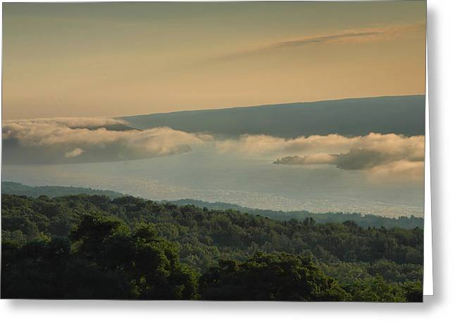 Clouds Over Keuka Greeting Card by Steven Ainsworth