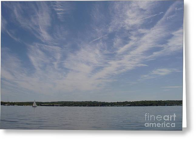 Greeting Card featuring the photograph Clouds Over Long Island Sound by John Telfer