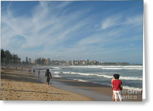 Greeting Card featuring the photograph Clouds Over Manly Beach by Leanne Seymour