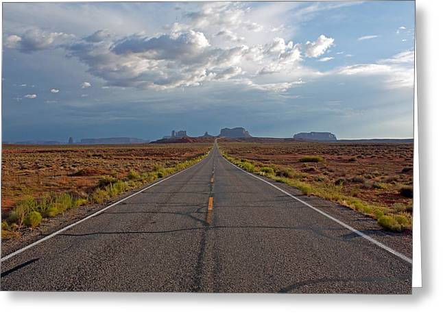 Clouds Over Monument Valley Greeting Card by Chris Flack Desert Images