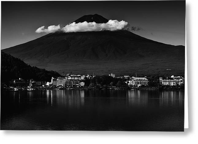 Clouds Over Mount Fuji Greeting Card
