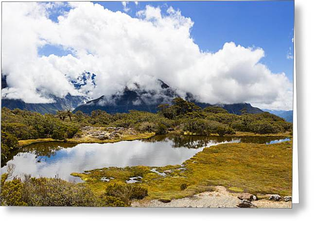 Clouds Over Mountains, Key Summit Greeting Card by Panoramic Images