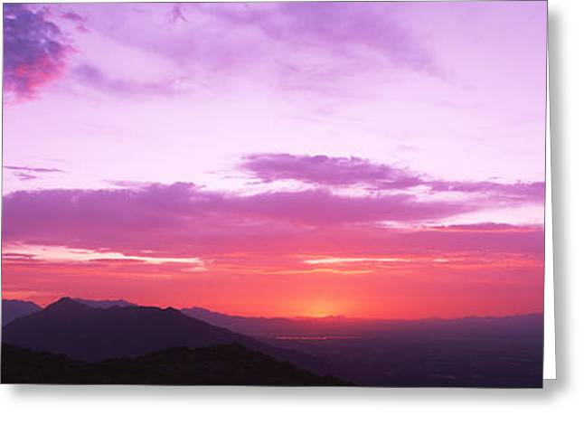 Clouds Over Mountains, Sierra Estrella Greeting Card