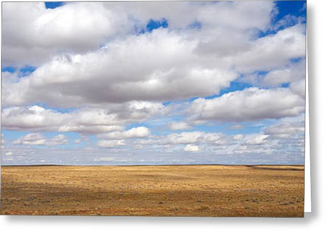 Clouds Over Open Rangeland, Texas, Usa Greeting Card