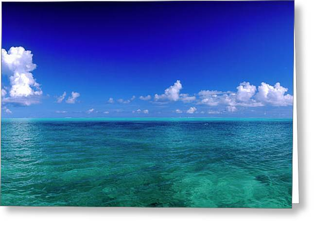 Clouds Over Pacific Ocean, Bora Bora Greeting Card by Panoramic Images