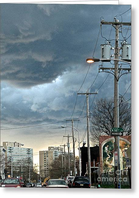 Clouds Over Philadelphia Greeting Card
