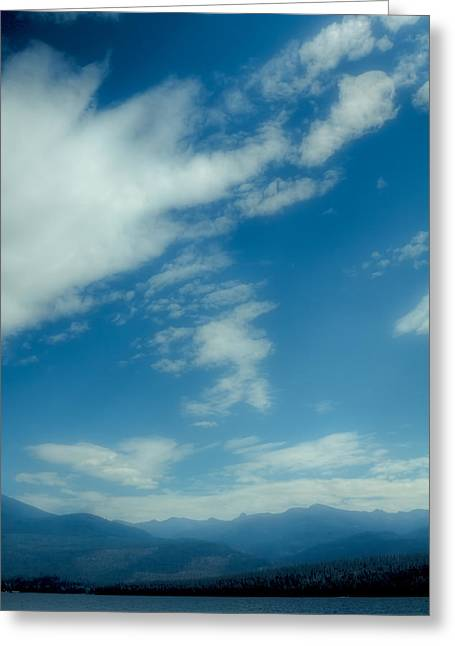 Clouds Over Priest Lake Greeting Card