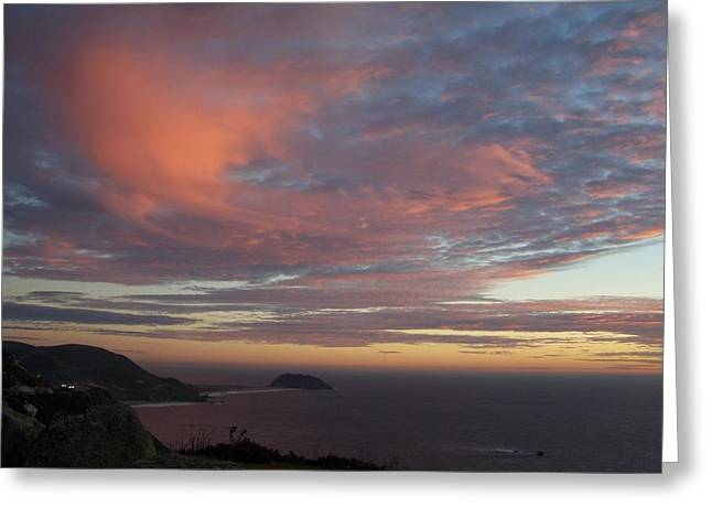 Greeting Card featuring the photograph Clouds Over Pt Sur by Christine Drake