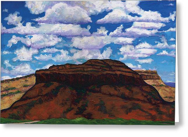 Clouds Over Red Mesa Greeting Card by Joe  Triano