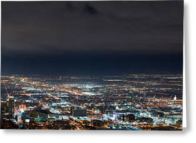 Clouds Over Salt Lake City Greeting Card by Dustin  LeFevre