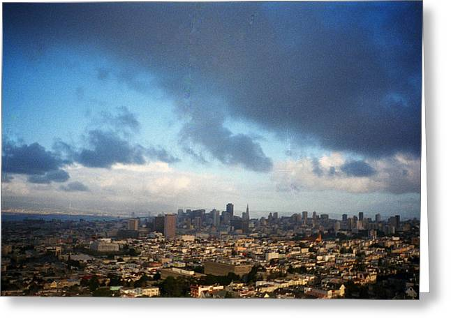 Clouds Over San Francisco Greeting Card by Eric Miller
