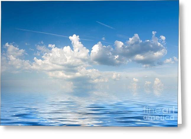 Clouds Over Sea Greeting Card by Boon Mee