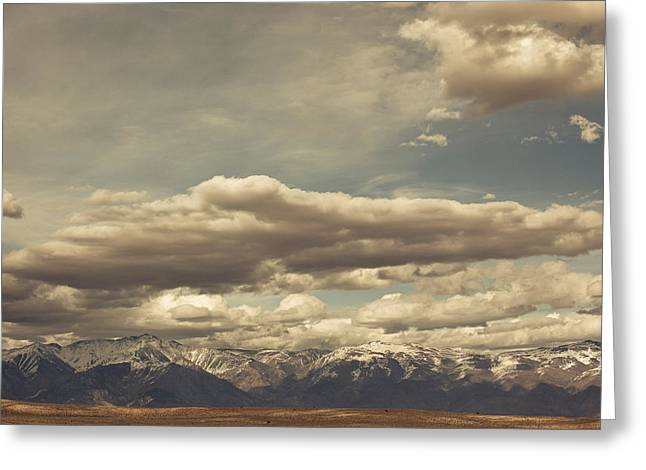 Clouds Over Sierra Nevada Mountains Greeting Card