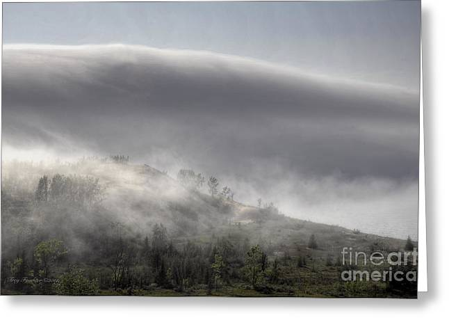 Greeting Card featuring the photograph Clouds Over Sleeping Bear Dunes 1 by Trey Foerster