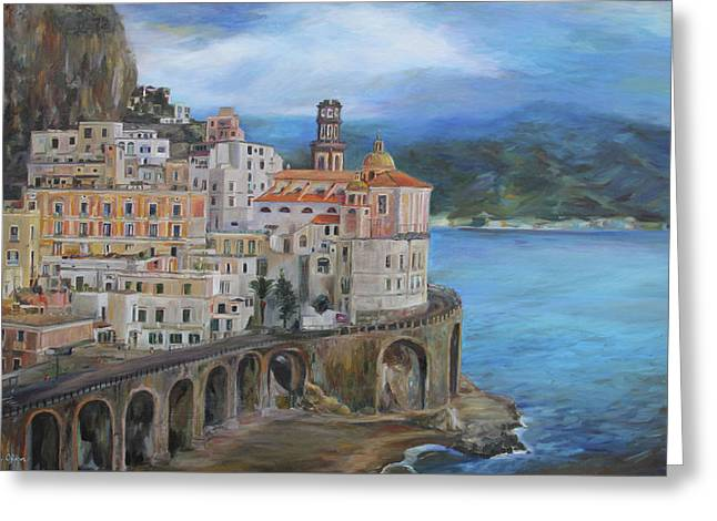 Clouds Over The Amalfi Coast Greeting Card