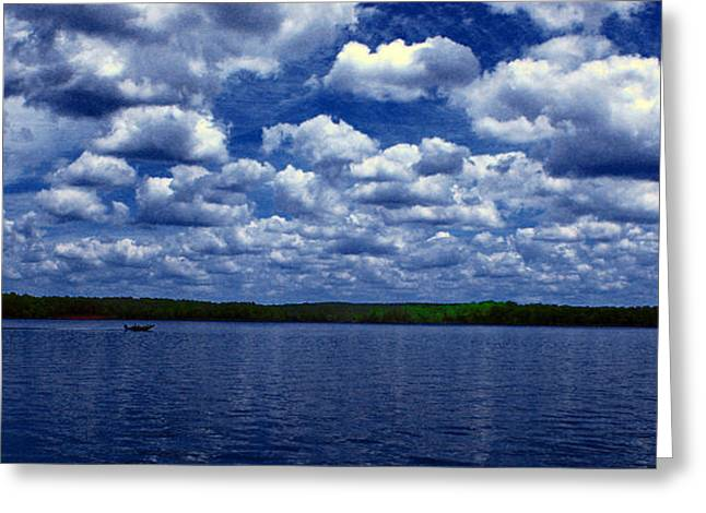Clouds Over The Catawba River Greeting Card