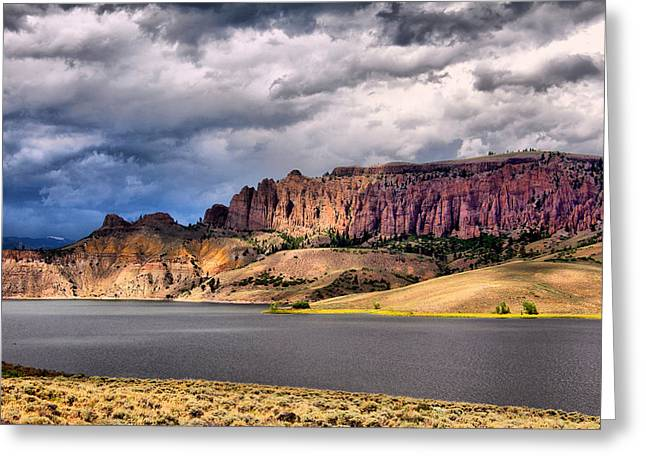 Clouds Over The Dillon Pinnacles Greeting Card