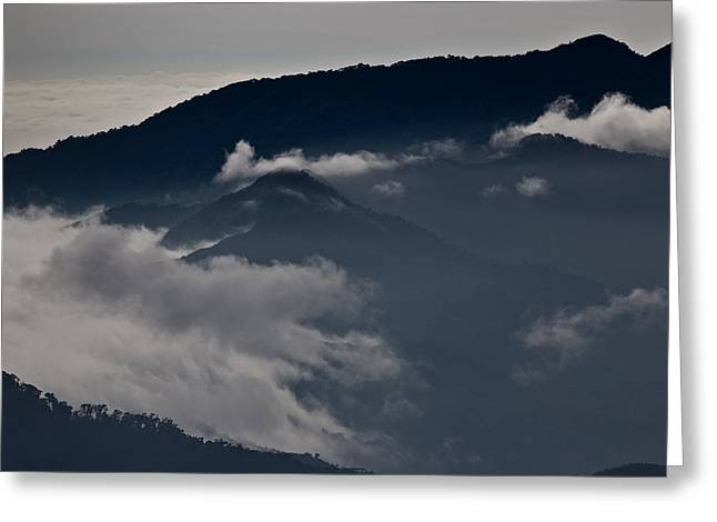 Clouds Over The Mounatins Greeting Card