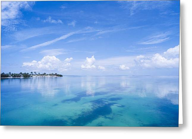 Clouds Over The Ocean, Florida Keys Greeting Card