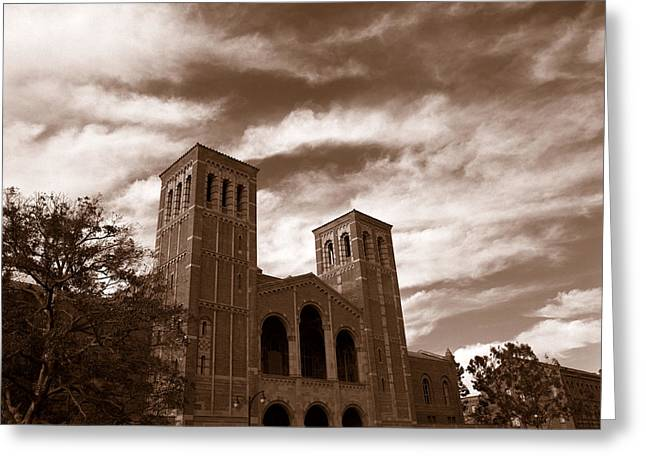 Clouds Over The Royce Hall, University Greeting Card by Panoramic Images